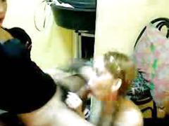 Tranny Couple Doing Hardcore Oral