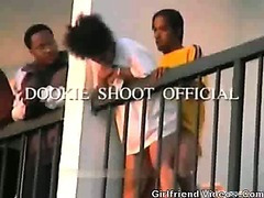 Black Couple Balcony Fuck