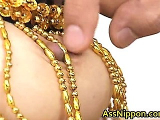 Porn Tube of Asian Babe Sucks And Gets Double Fucking