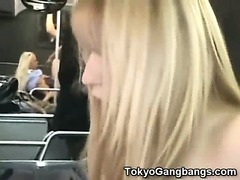 White Coed Fucked in Tokyo Subway!
