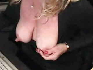 Porn Tube of Big Nipples And Big Clit Housewife Masturbating And Squirting