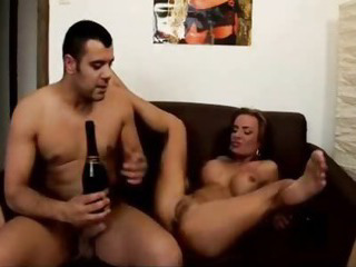 Porn Tube of Champagne Enema Squirting