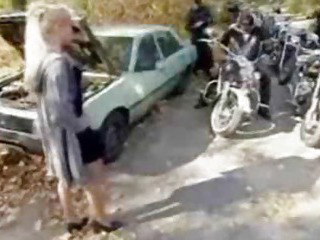 Porn Tube of Biker Babe Gang Bang