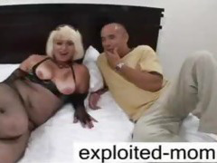 Crazy old mature gets big cock in her