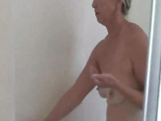Porn Tube of Gorgeous Granny Has A Shower