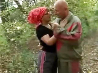 Sex Movie of Wild Granny Fucking In The Woods