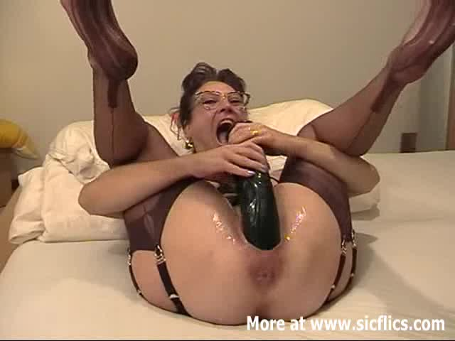 Wife with giant dildo