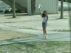 Nasty busty babe banged in van