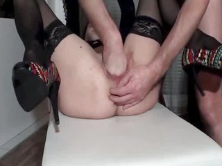 Porno Video of Fisting The Wifes Holes Till She Pisses Herself