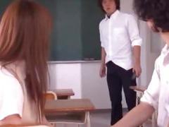 Hot school uniform slut Satou Haruka fucking