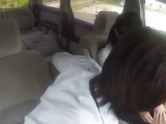Japanese school girl slut sex in car