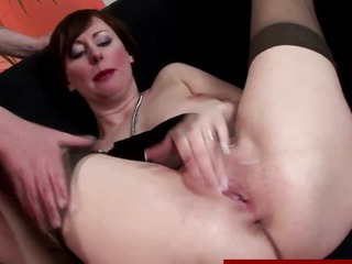 Porno Video of Classy Mature In Stockings Gets Fucked