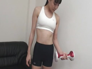 Porn Tube of Pussy Vibrations Finishes Miho Wakabayashi Workout