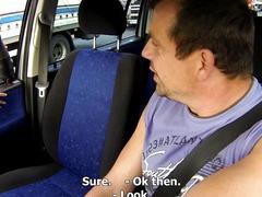 Czech Bitch Blonde Street Slut Wants it Hard