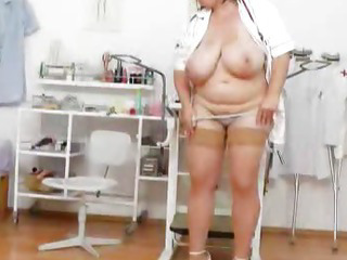 Porn Tube of Brunette Lady Practical Nurse Teases In Uniforms