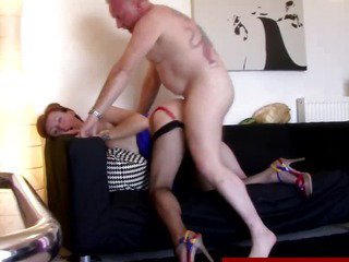 Porno Video of British Mature In Stockings Gets Fucked