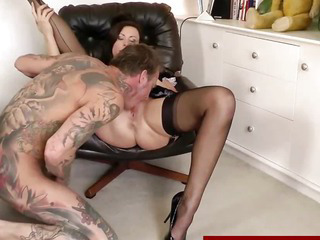 Sex Movie of Euro Mature In Stockings Gives Head