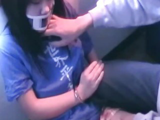 Porn Tube of Handcuffed Asian Teen Gets Fucked