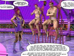 DRAG QUEENS FROM OUTER SPACE Scifi 3D Gay BDSM Bondage Cartoon Anime Comics