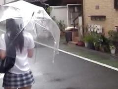 Teen schoolgirl entices