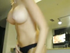 Horny Wife Swallows a Mouthful of Hot Jizz
