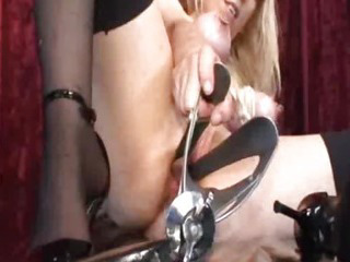Porno Video of Huge Vaginal Gaping With Horse Speculum Device