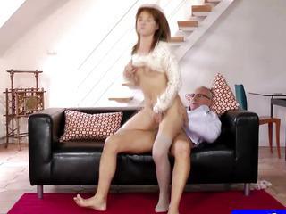 Porn Tube of Sexy Teen In Uniform Masturbating