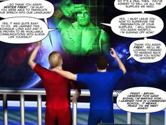 FIRST ALIEN CONTACT 3D Gay Cartoon Comic Anime Story