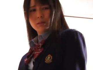 Porn Tube of Lustful Japanese Schoolgirl Ruka
