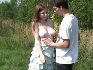Sex Movie of Busty Teen Charlotte Gets Nailed Outdoors