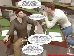 FIRST TIME GAY FUCK ON EXAM 3D Gay Cartoon Animated Comics