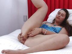 Girls Out West - Hotel room masturbation