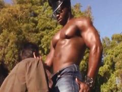 Hunky Black Man Fucks Nasty Beefy Gay