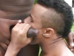 Black Guy Fucks Beefy Gay
