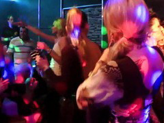 Ultra sexy party babes dancing erotically in a club