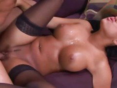 Eva Angelina gets a fat cock into her soft cunny.
