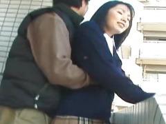 Schoolgirl Seire Mochizuki gets kinky on the street.