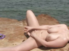 Girls Out West - Huge titted chick toying herself