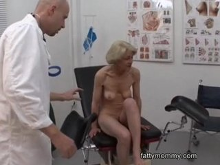 Sex Movie of Mature Granny Blonde Marie  Fucking With Doctor