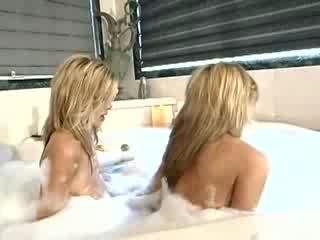 Porn Tube of Potter Twins Share A Cock In The Bath!!!