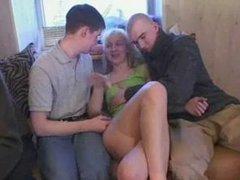 Russian amateur gangbang