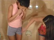 Two Daring Girls Purposely Piss Themselves and Their Clothes