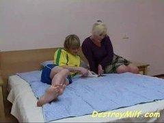 Boy fucks his best friends mom in her bedroom