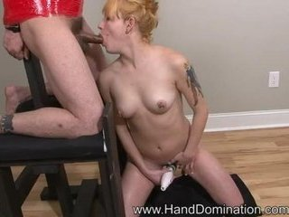 Porno Video of Heather Gable Femdom Handjob