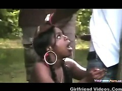 Black Girl Handing Out BJs