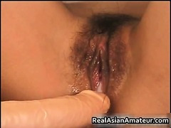 Busty dildoing asian cutie gets her