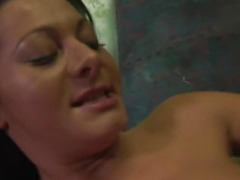 Sandra Romain shows off her mad sucking skills
