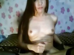 Horny Asian Tranny Masturbating