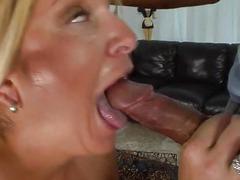 Blonde milf has steamy fun with her new friend