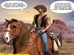 HOW WEST WAS HUNG 3D Gay Cowboys Gangbang Cartoon Anime Comics Hentai
